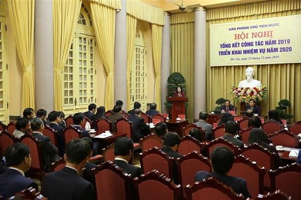 邓氏玉盛出席国家主席办公厅举行的2020年任务部署会议 hinh anh 1
