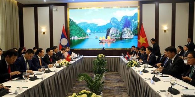 第6次越老外交部长级政治磋商在广宁省举行 hinh anh 1