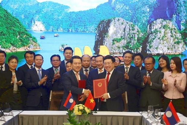 第6次越老外交部长级政治磋商在广宁省举行 hinh anh 2