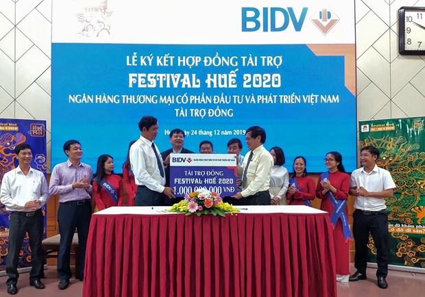 BIDV向2020年顺化文化节提供10亿越盾资助 hinh anh 1