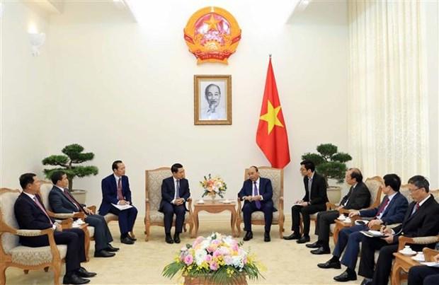 越南总理阮春福会见老挝外交部长沙伦赛 hinh anh 2