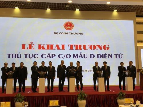 越南出口商品原产地电子证书签发手续正式亮相 hinh anh 1