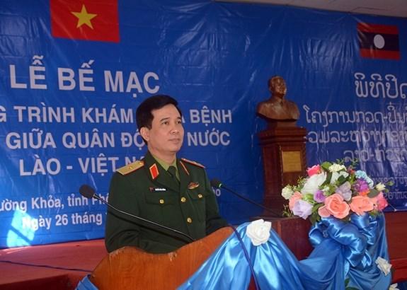 越老军队为老挝丰沙里省居民免费看病送药惠及1.2万民众 hinh anh 1