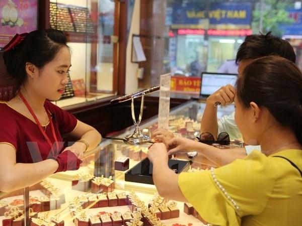 12月27日越南国内黄金价格创三个月来新高 hinh anh 1