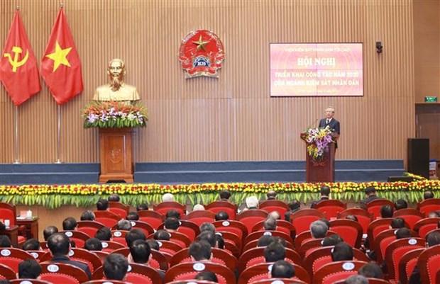 越南中央书记处常务书记陈国旺高度评价人民检察院在反贪反腐工作中的作用 hinh anh 1