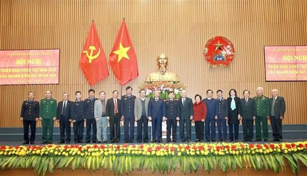越南中央书记处常务书记陈国旺高度评价人民检察院在反贪反腐工作中的作用 hinh anh 2