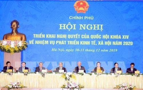 """越南政府确定2020年行动方针为""""纪律、廉洁、行动、负责、创新、高效"""" hinh anh 1"""