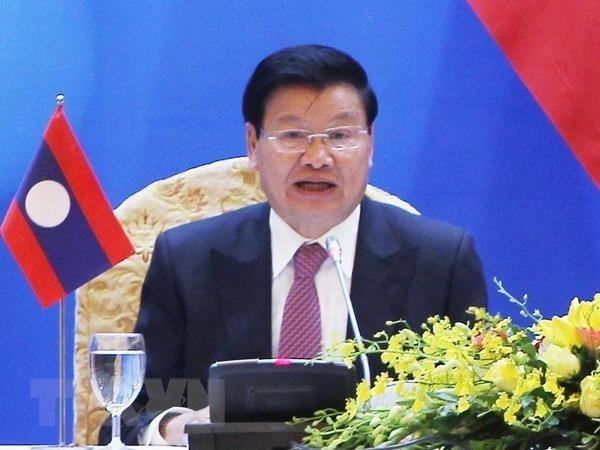 老挝总理出席在河内举行的越老政府间委员会第42次会议 hinh anh 1
