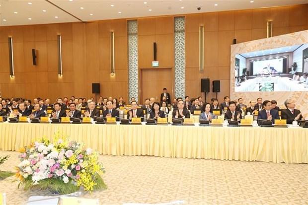 越共中央总书记、国家主席阮富仲出席政府与各地方视频会议并发表重要讲话 hinh anh 3