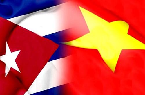 越南国家领导人向古巴领导人致国庆贺电 hinh anh 1