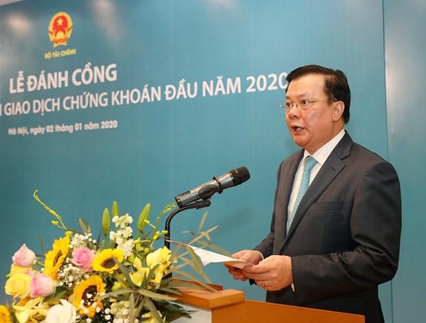 越南证券交易所举行2020年开市敲锣仪式 hinh anh 1