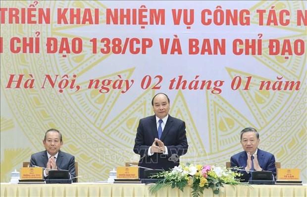 政府总理指导加强打击商品走私和贸易欺诈行为 hinh anh 1