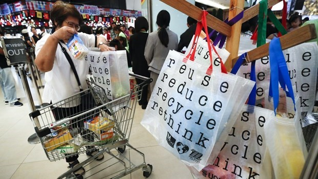 泰国禁止使用一次性塑料袋 hinh anh 1