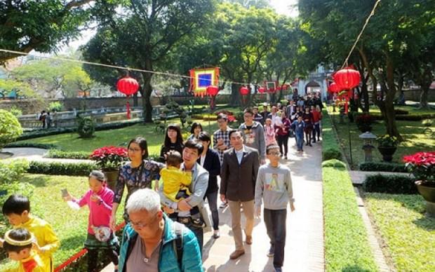 春节期间首都接待游客量预计将猛增 hinh anh 1