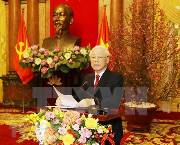 越共中央总书记、国家主席阮富仲:致力于一个繁荣富强的越南的渴望 hinh anh 1