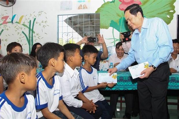陈青敏走访慰问后江省孤儿院和优抚家庭 hinh anh 2