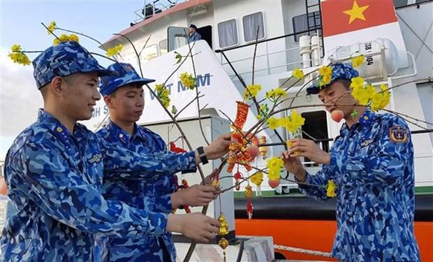 """越南海警第一区司令部举行""""海岛春节""""活动 hinh anh 1"""