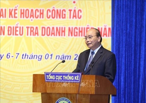 阮春福:统计部门需要提高有关宏观经济分析与预测的统计质量 hinh anh 1