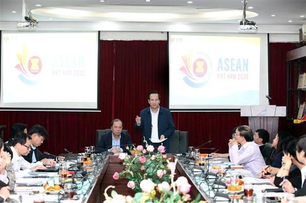 2020越南东盟文化社会共同体支柱第一次会议:各国高度评价越南的筹备工作 hinh anh 1