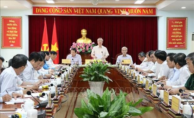 陈国旺要求同奈省加强干部工作坚持民主集中制原则 hinh anh 1