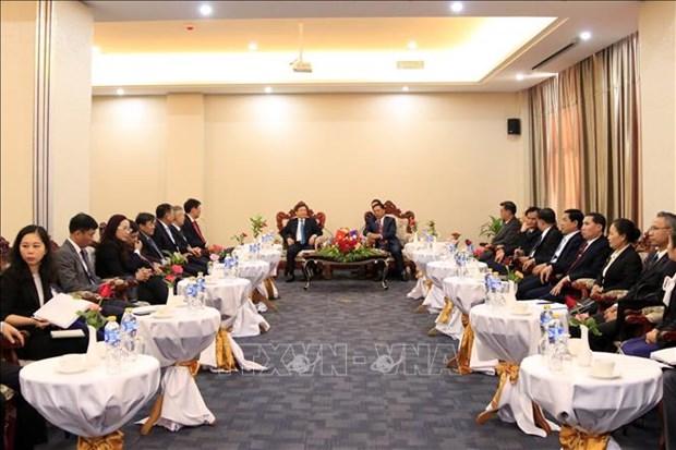 越南与老挝最高人民检察院加强合作 hinh anh 1