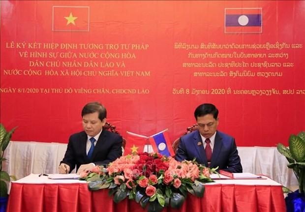 越南与老挝最高人民检察院加强合作 hinh anh 2
