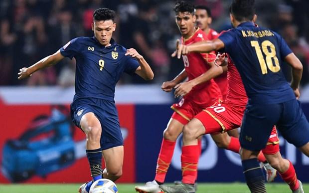 2020年U23亚洲杯:泰国队胜出巴林队 A组领先 hinh anh 1