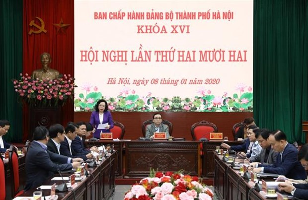 2020年河内市委将集中落实9大核心任务 hinh anh 1
