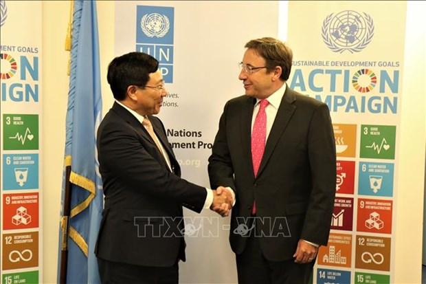 越南与联合国安理会:联合国秘书长与各国官员高度评价越南的国际地位 hinh anh 2