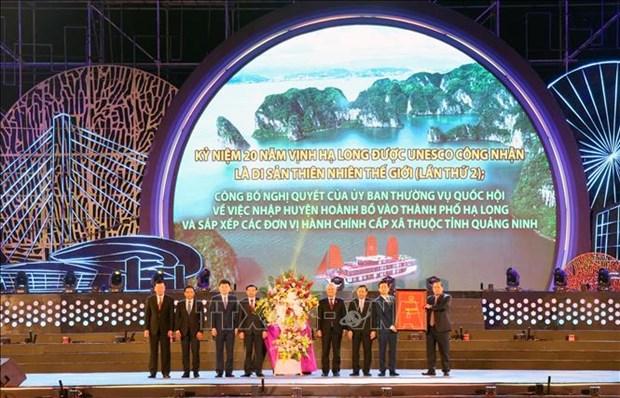 广宁省举行下龙湾被列入世界自然遗产名录20周年纪念典礼 hinh anh 1
