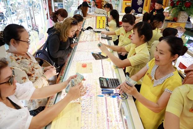 1月14日越南国内黄金价格仍保持在4300万越盾以上 hinh anh 1