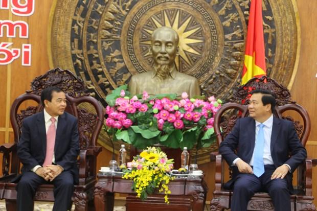 柬埔寨两省领导向隆安省致以新春美好祝福 hinh anh 1