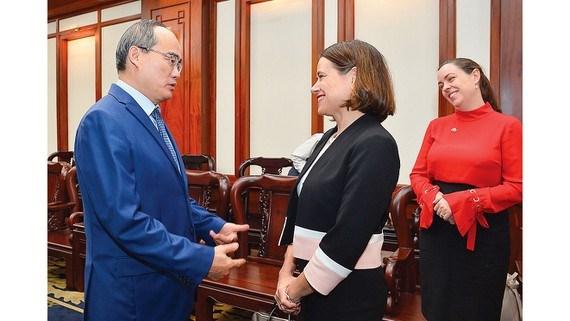 胡志明市愿与澳大利亚共同制定经济合作战略 hinh anh 1