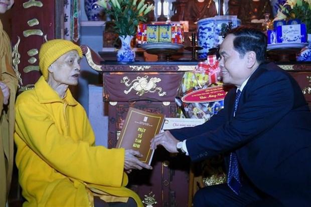越南佛教协会一向与民族的发展并肩同行 hinh anh 1