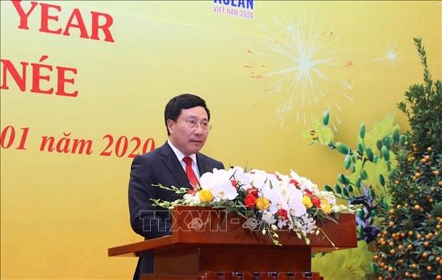范平明副总理兼外长:继续提升越南的地位和加深与世界各国的关系 hinh anh 1