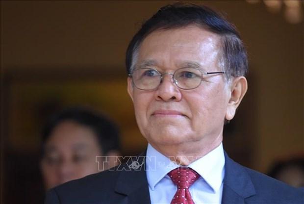 柬埔寨金边法院对涉嫌叛国罪的柬埔寨前反对党救国党领袖金速卡进行审理 hinh anh 1