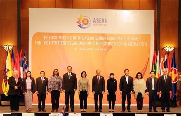 东盟经济高官会2020年第一次会议在河内举行 hinh anh 1