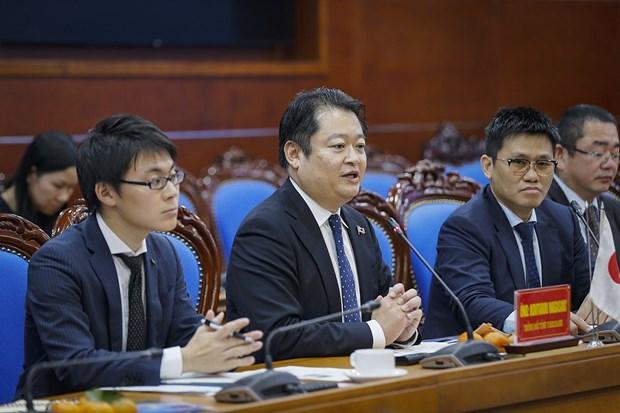 日本山梨县代表团对和平省进行工作访问 hinh anh 1