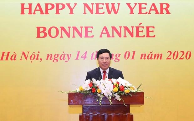 各国驻越外交使团见面会在首都河内举行 hinh anh 1