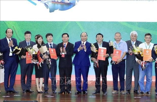 阮春福出席2020年茶荣省投资促进会 hinh anh 1
