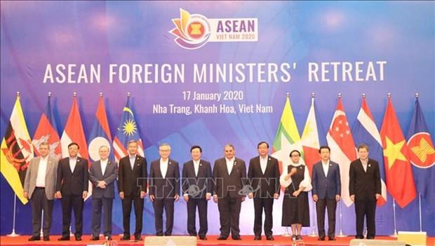 东盟外交部长非正式会议在越南庆和省召开 hinh anh 1
