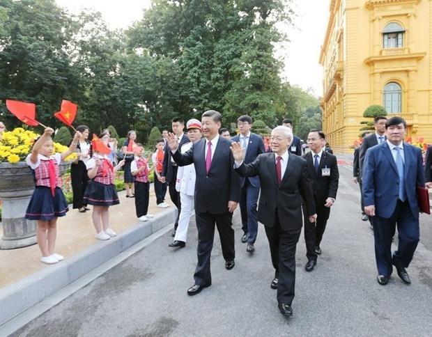 越中两国领导人互致贺电庆祝两国建交70周年 hinh anh 1