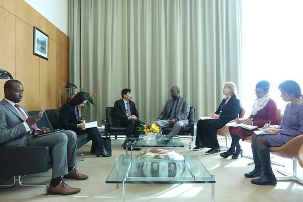 越南与联合国安理会:邓廷贵大使会见联大第74届会议主席班德 hinh anh 2