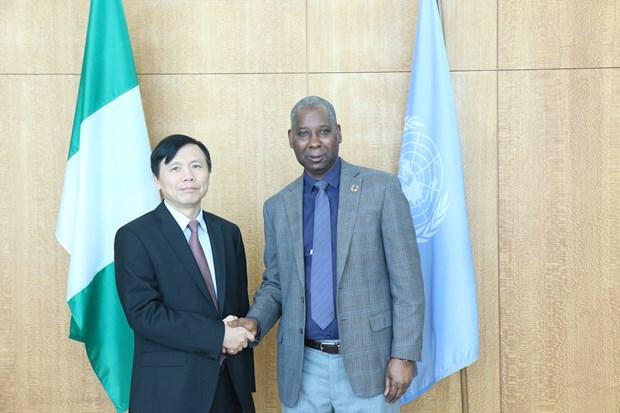 越南与联合国安理会:邓廷贵大使会见联大第74届会议主席班德 hinh anh 1