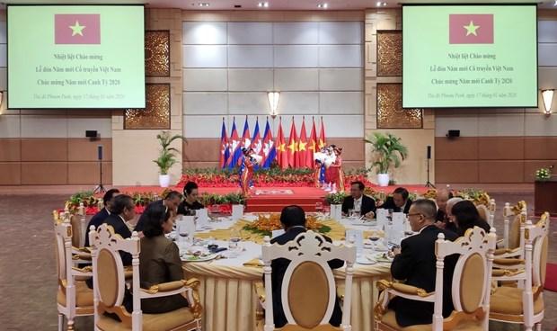 在柬越资企业喜迎2020庚子年新春佳节 hinh anh 3