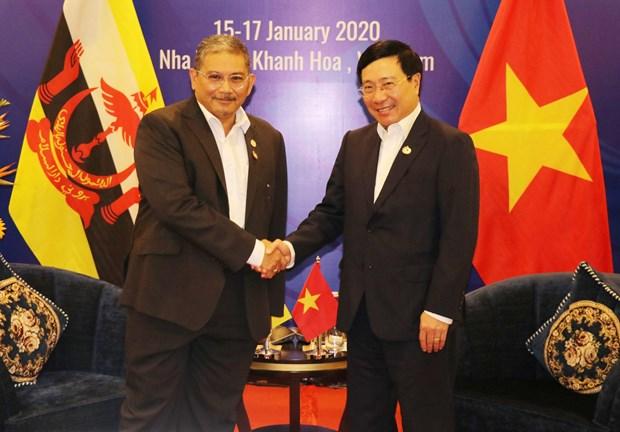 越南政府副总理兼外长范平明会见文莱外交部第二部长艾瑞万 hinh anh 1