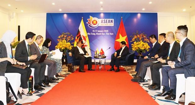 越南政府副总理兼外长范平明会见文莱外交部第二部长艾瑞万 hinh anh 2