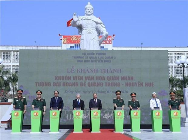 政府总理阮春福来到2号陆军军官学校调研 hinh anh 2
