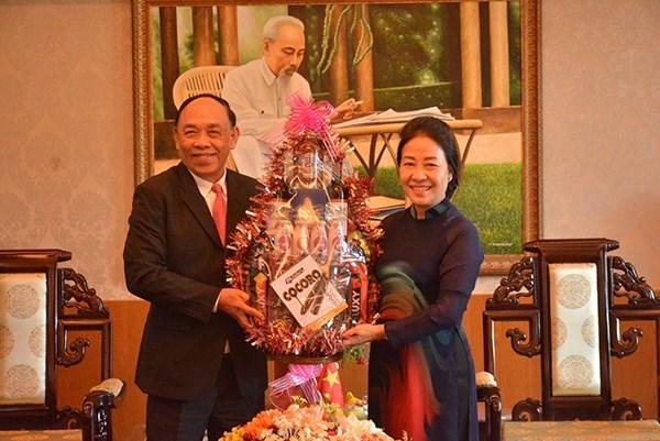 柬埔寨多省市代表团走访坚江省并致以新春祝福 hinh anh 1