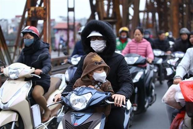 冷空气加强 越南北部遭受严寒 hinh anh 1